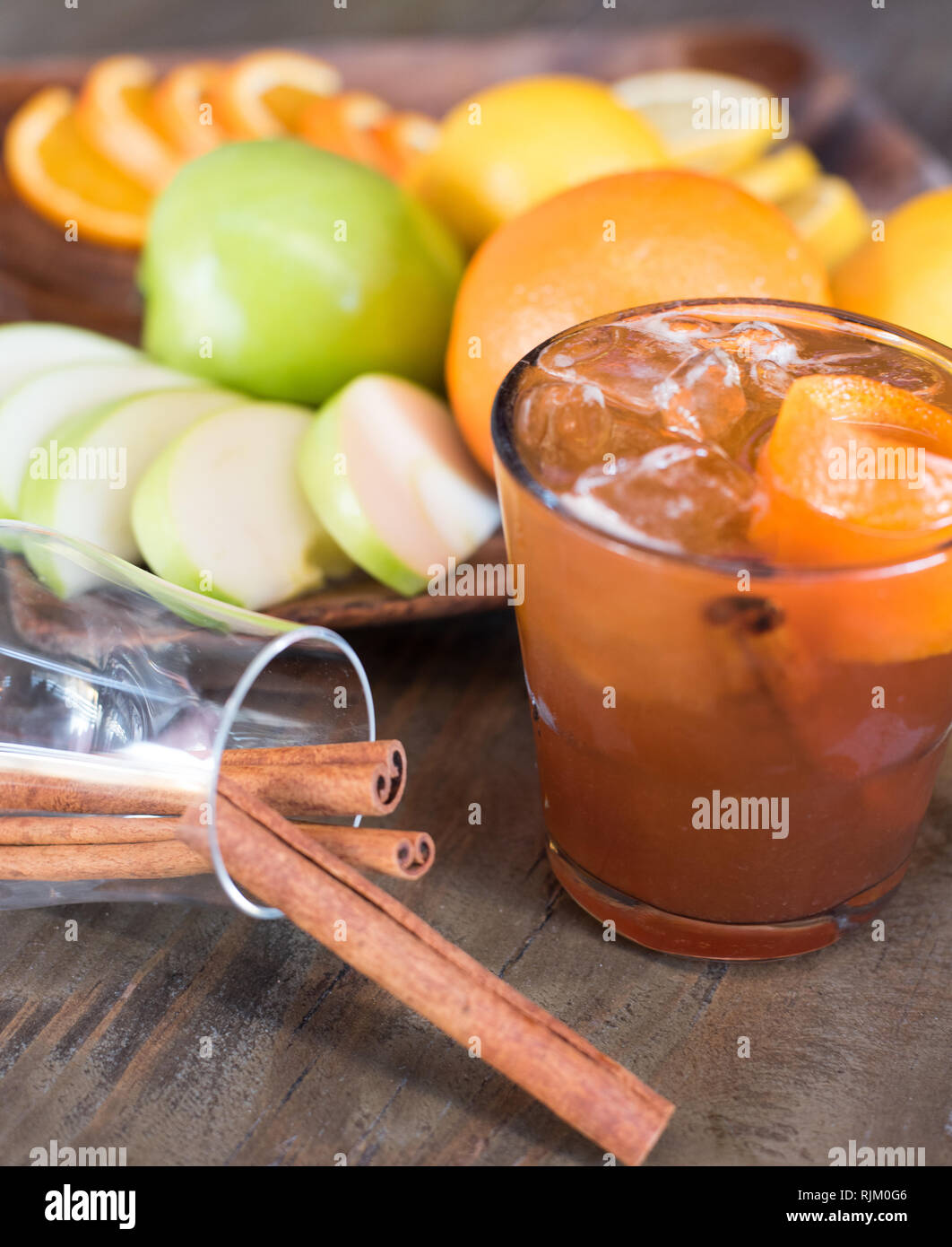 Fancy Hand Crafted Cocktail - Stock Image