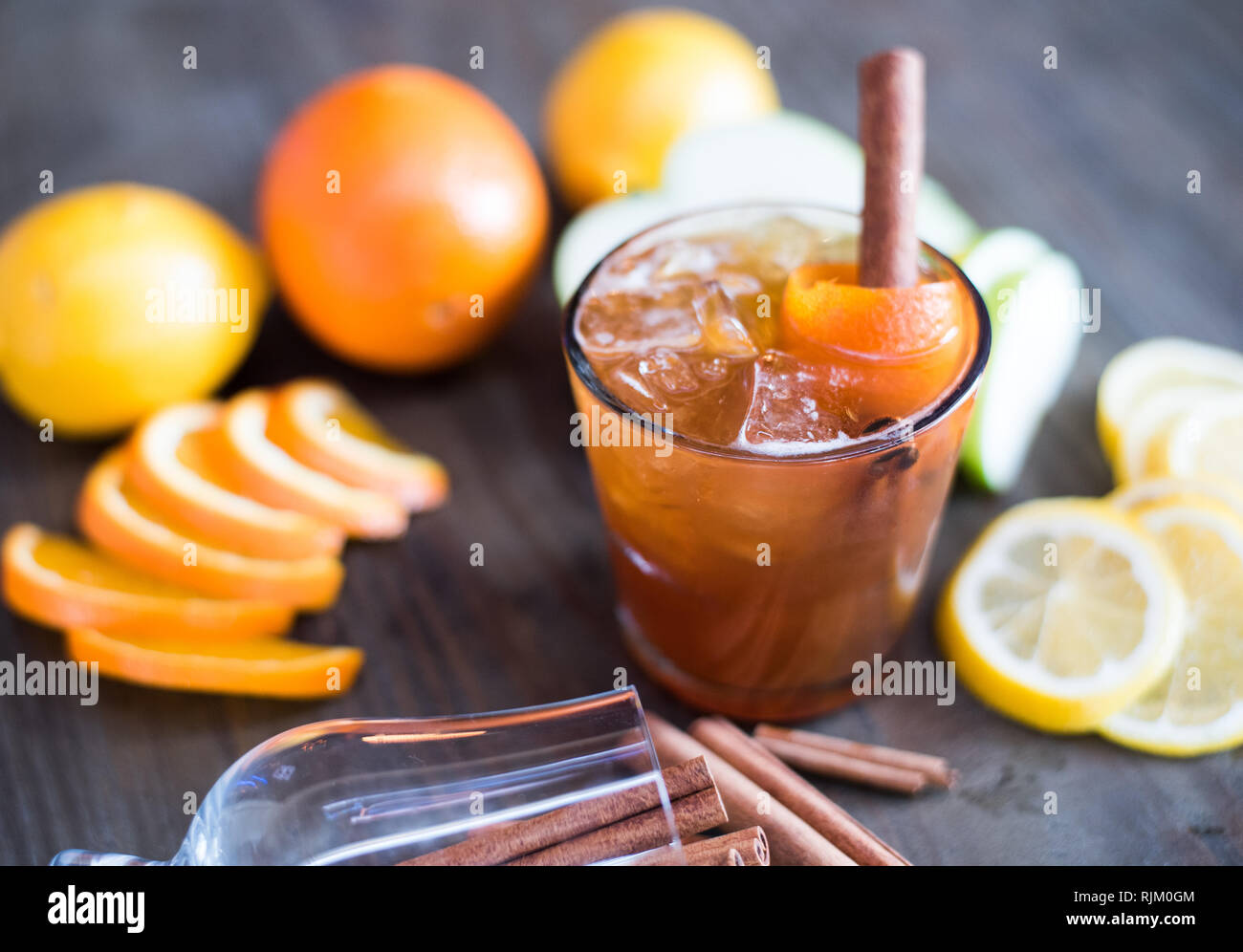 Fancy Hand Crafted Cocktail Stock Photo