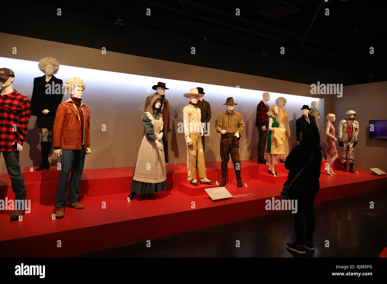 Los Angeles Ca Usa 2 5 2019 Costumes From 2019 Oscar Nominated Movies On Display At Fidm Fashion Institute Of Design Merchandising Museum Stock Photo Alamy