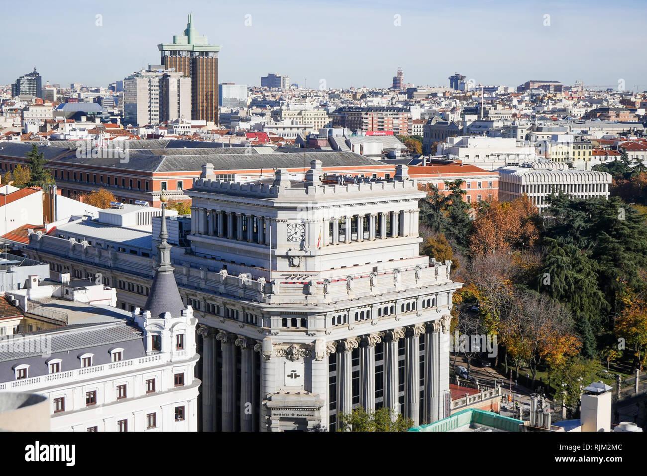 Architecture, Calle de Alcalá, Madrid, Spain - Stock Image