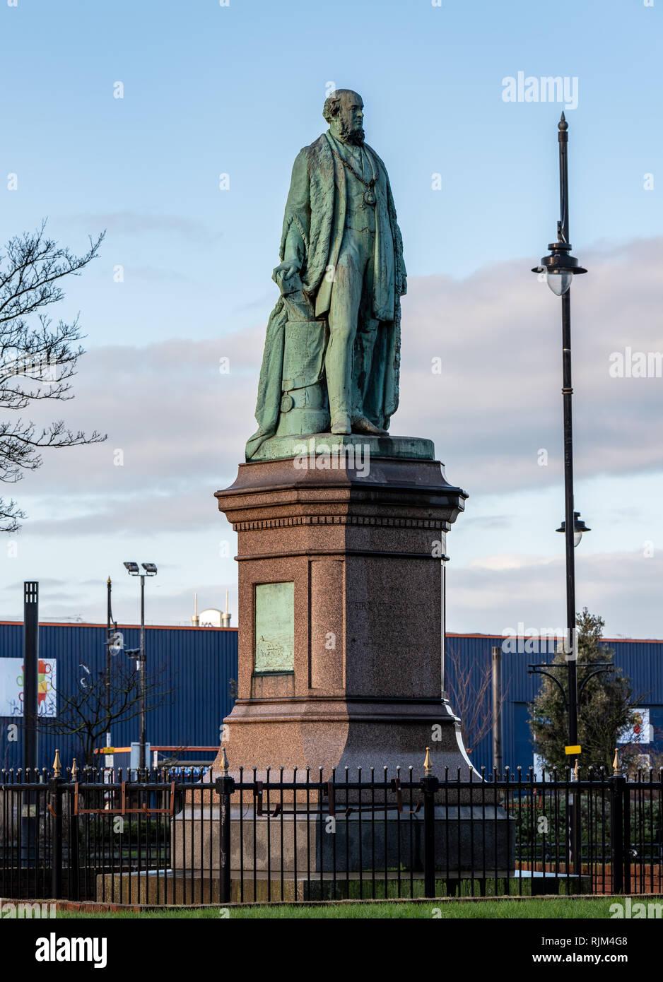 Sir James Ramsden Statue, Barrow in Furness Stock Photo