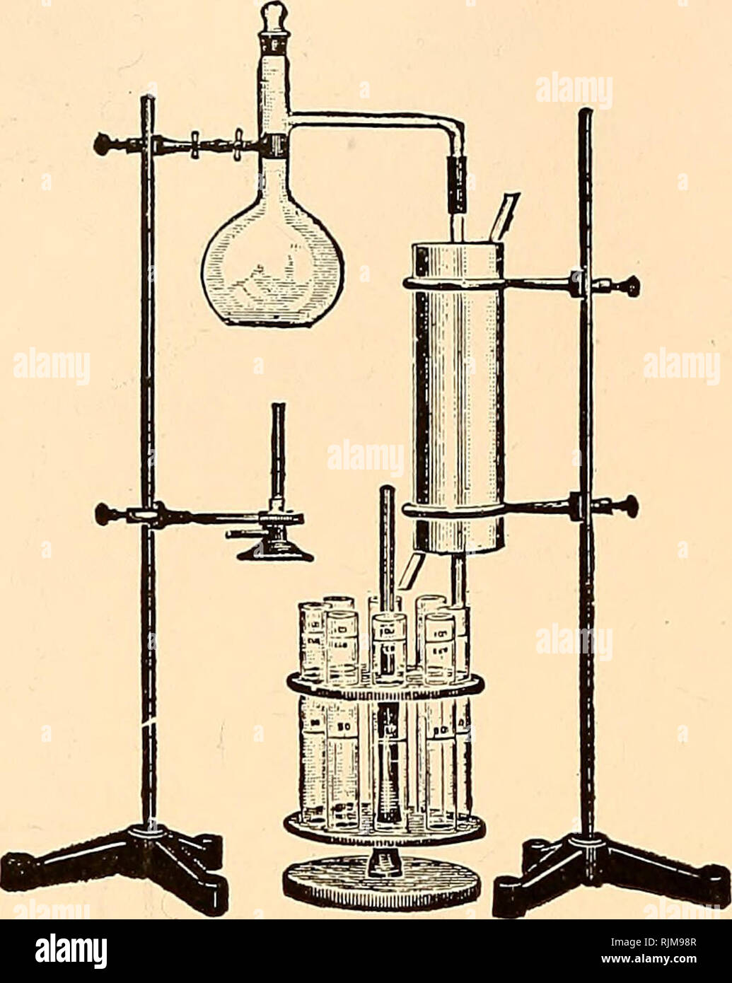 ". Bacteriological apparatus : pathological, biochemical. Scientific apparatus and instruments; Bacteriology; Chemical industry. <ttft Hill QLarpatatian. Siutfraipr, -DC.. cc. 2375 18755 2380 2185 2185 Color Comparison Tubes—Nessler's. Tall form; with polished bottoms made from clear glass. The 50 cc mark on the 50 cc tube is between 200 and 250 mm from the bottom and the 100 cc mark on the 100 cc tube is between 275 and 325 mm from bottom. Tubes in sets of six or twelve have 50 cc or 100 cc mark within 6 mm of same height. See American Public Health Association, ""Standard Methods of Wa Stock Photo"
