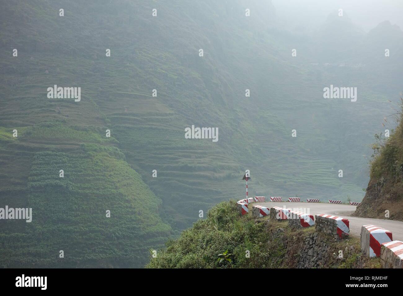 Happiness Road - Ha Giang - Viet Nam - Stock Image