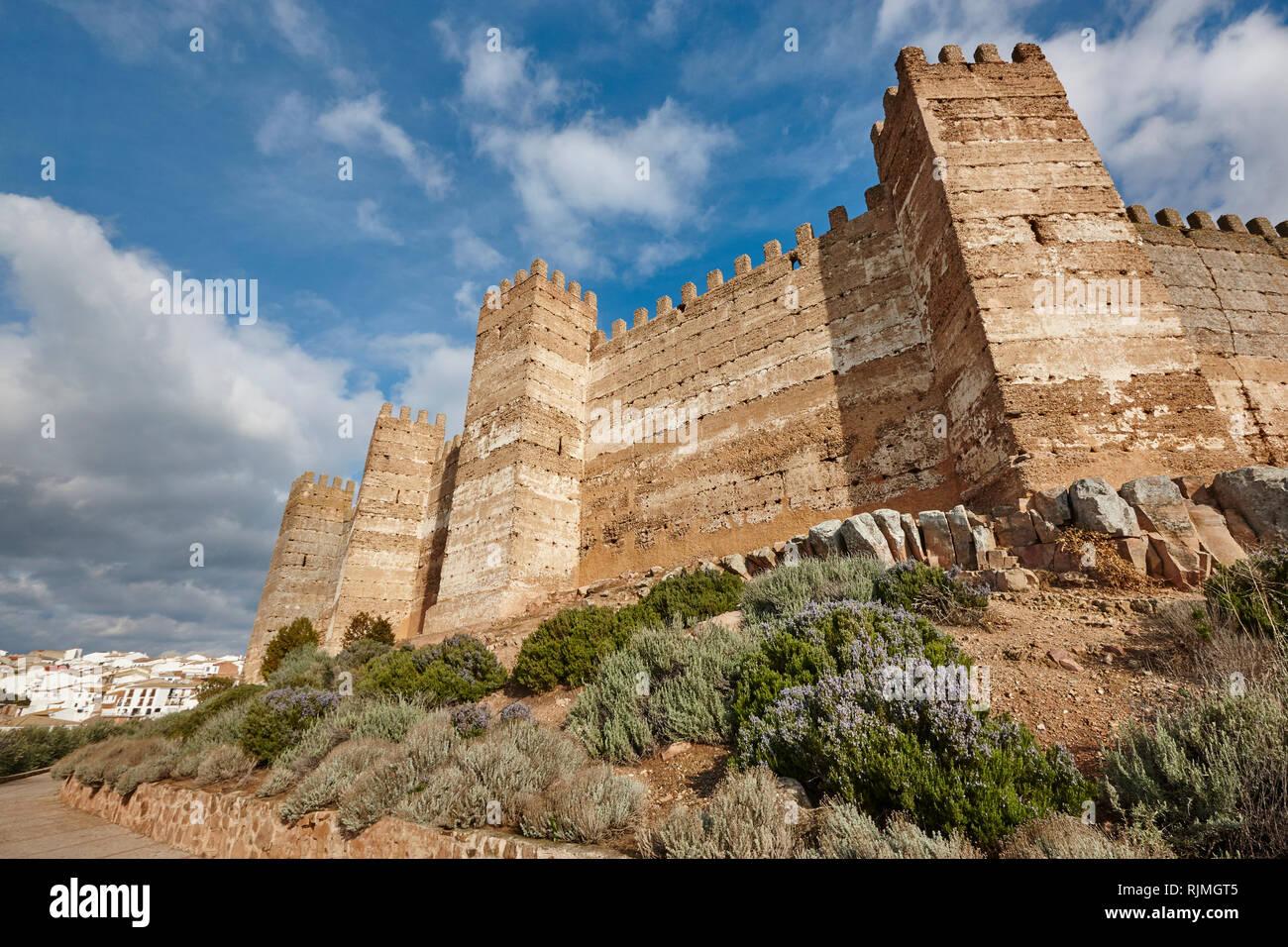 Medieval Castle Of Burgalimar Banos De La Encina Jaen Spain Stock