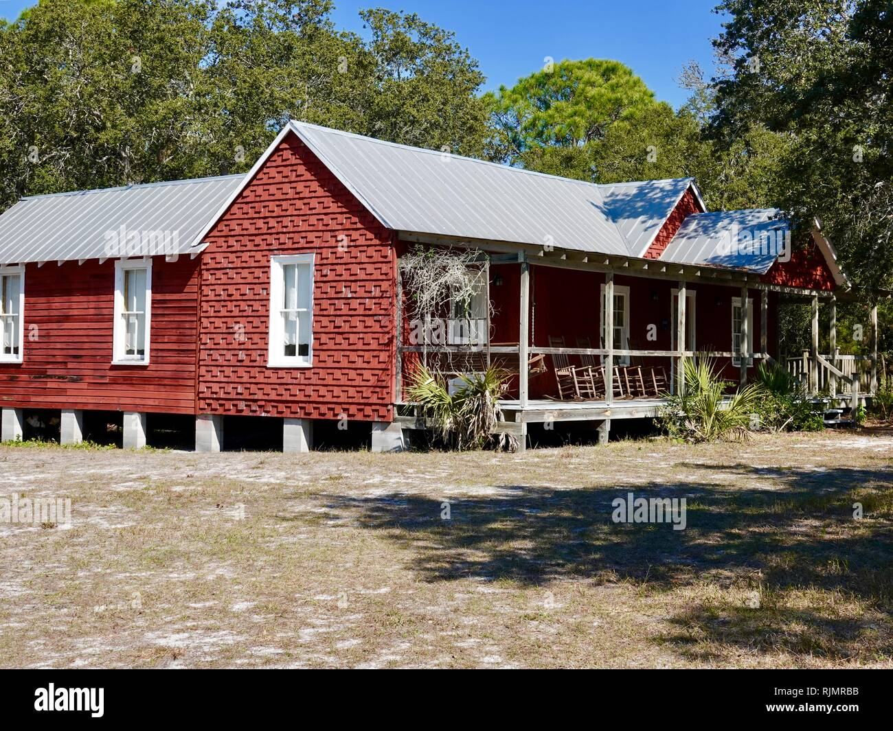 Whitman home at Cedar Key Museum State Park, Cedar Key, Florida, USA Stock Photo