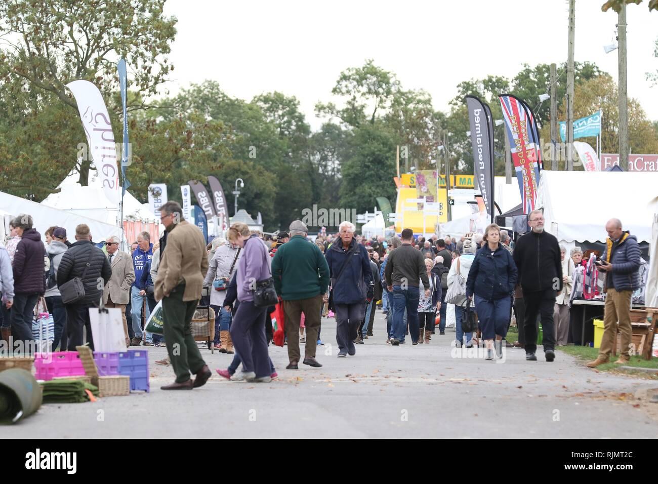 Malvern Autumn Show at The Three Counties Showground - Stock Image