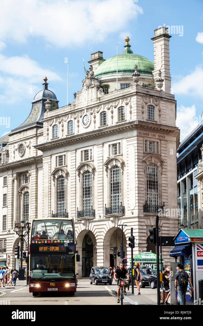 United Kingdom Great Britain England London Westminster Piccadilly Circus Regent Street County Fire And Alliance Life Office Building Reginald Blomfie
