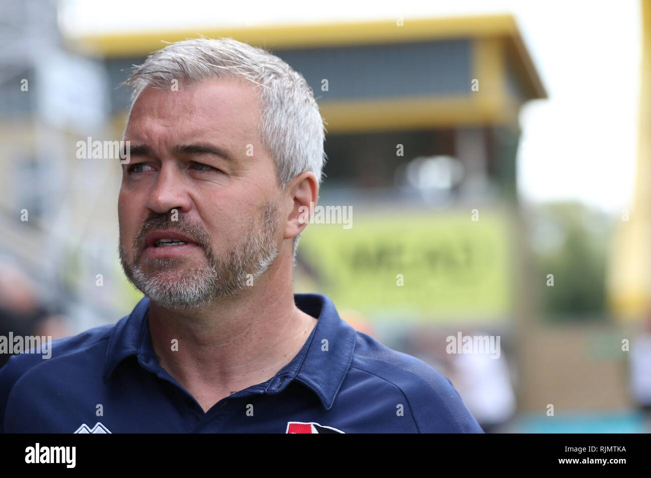 Russell Milton, long time serving player, coach, caretaker manager and 2nd in command at Cheltenham Town FC  Picture by Antony Thompson - Thousand Wor - Stock Image