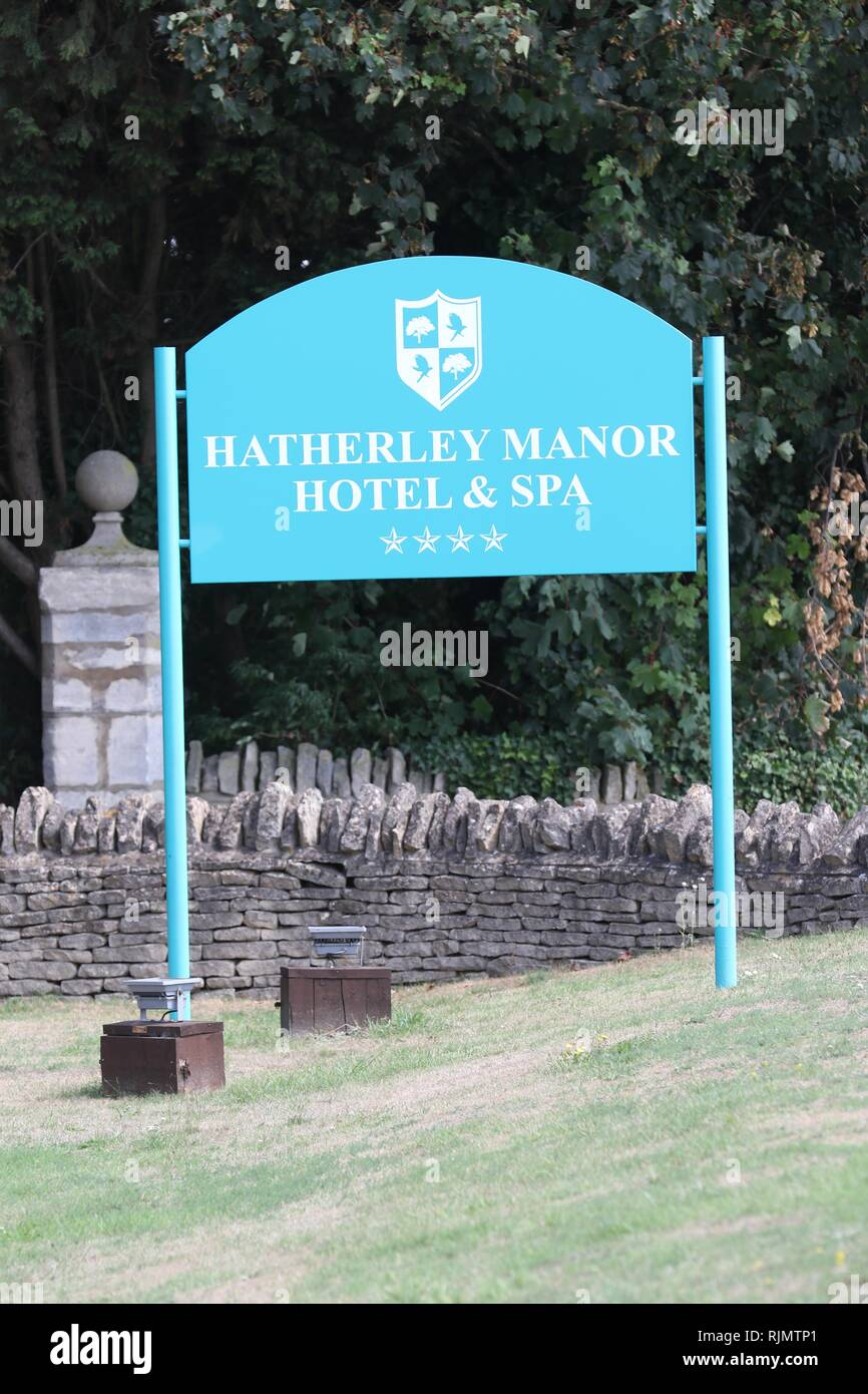 The new Hatherley Manor Hotel Spa  Picture by Antony Thompson - Thousand Word Media, NO SALES, NO SYNDICATION. Contact for more information mob: 07775 Stock Photo