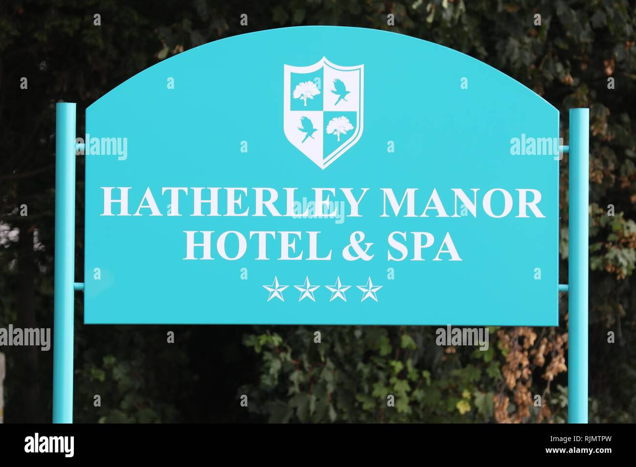 The new Hatherley Manor Hotel Spa  Picture by Antony Thompson - Thousand Word Media, NO SALES, NO SYNDICATION. Contact for more information mob: 07775 - Stock Image