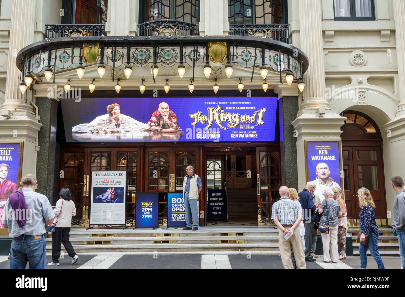 London England United Kingdom Great Britain West End Westminster London Palladium Theatre theater historic building Grade II listed The King and I mus - Stock Image