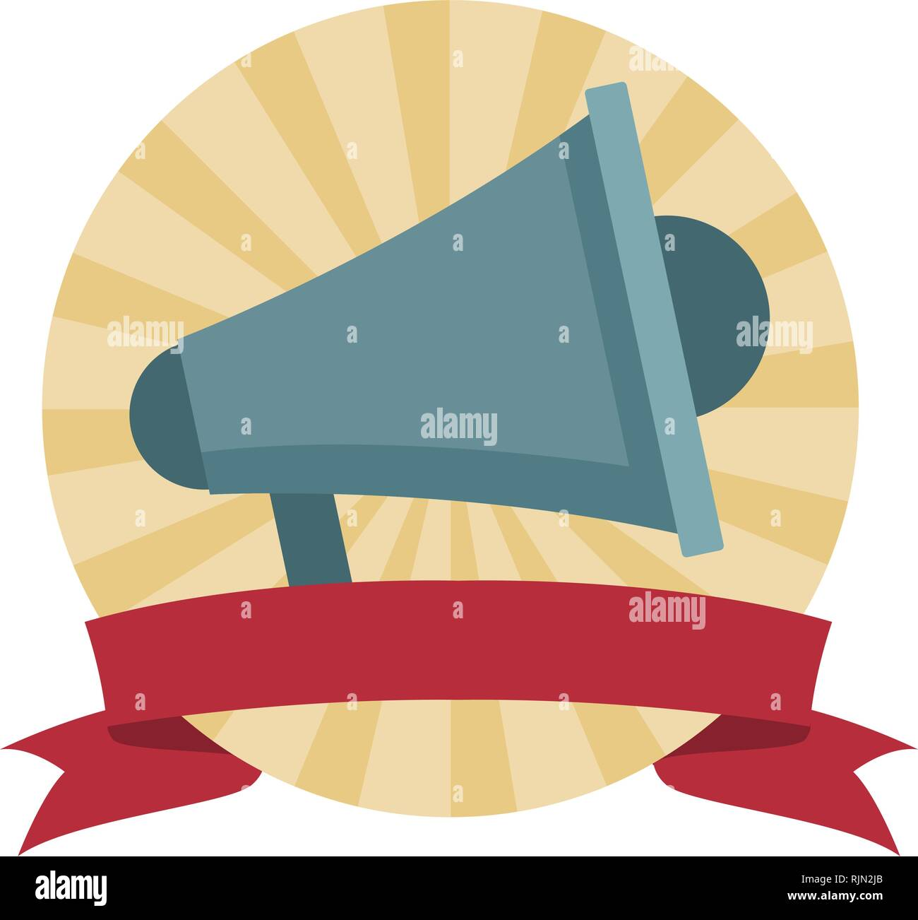 megaphone speaker cartoon - Stock Vector