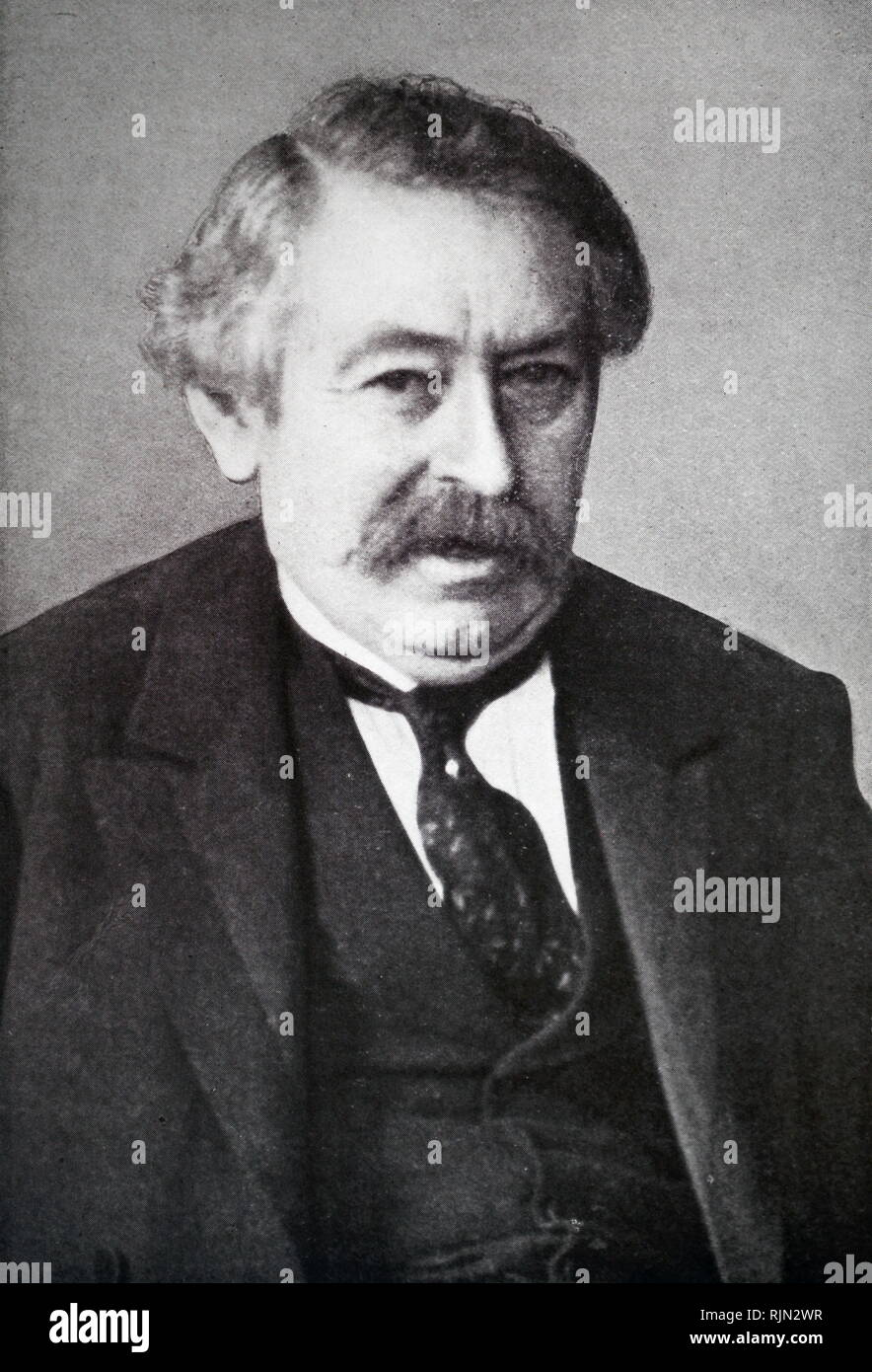 Aristide Briand (1862-1932) French socialist; premier eleven times; foreign minister 1925-32; Nobel peace prize 1926 - Stock Image
