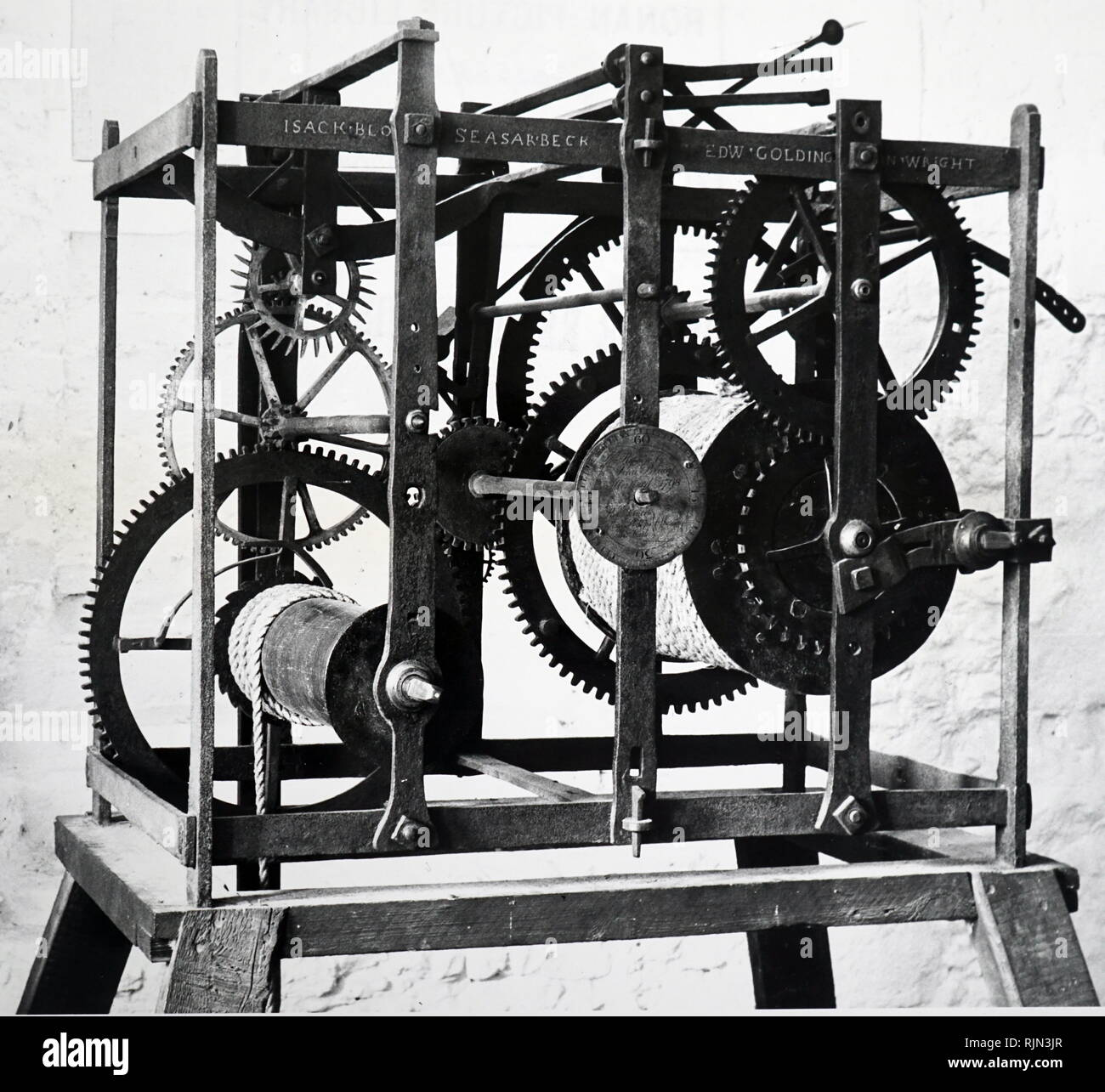 Pendulum Clock Mechanism Stock Photos & Pendulum Clock