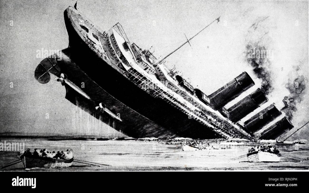 RMS AQUITANIA CUNARD LINES Ocean Liner Ship Travel Poster Retro Art Print 198