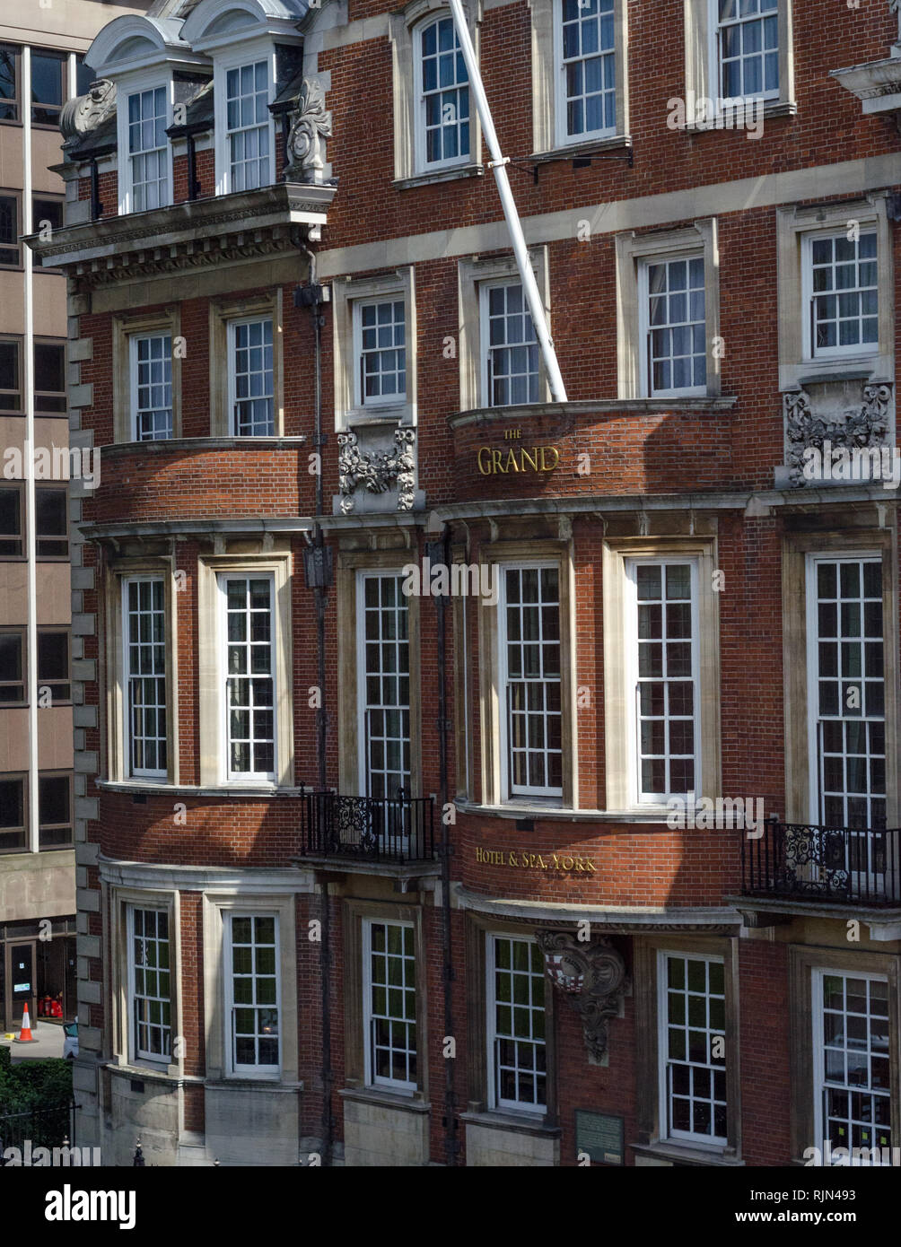 The Grand Hotel and Spa is just inside the city walls of York, England. - Stock Image