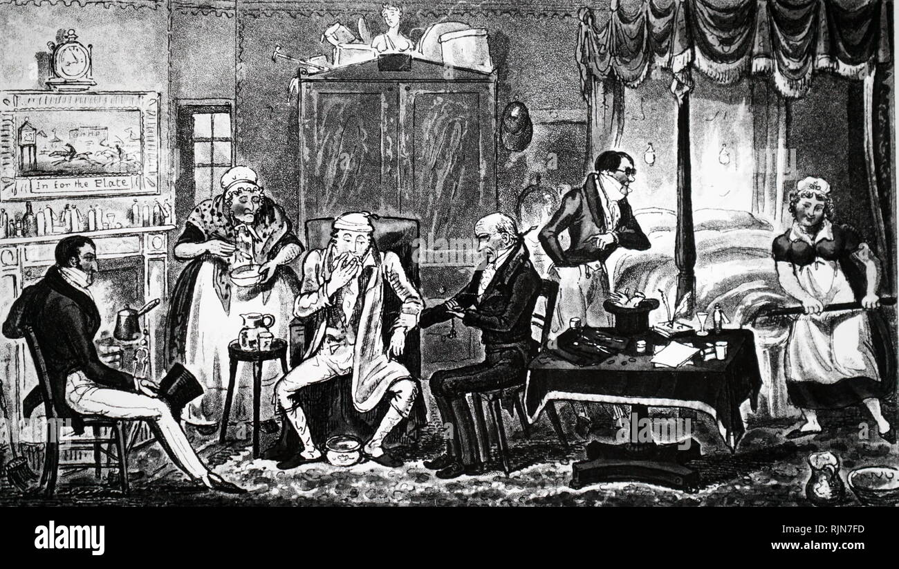 Illustration showing Gentleman being served with his dinner in front of the fire in an inn's 'Best Parlour' 1877 - Stock Image