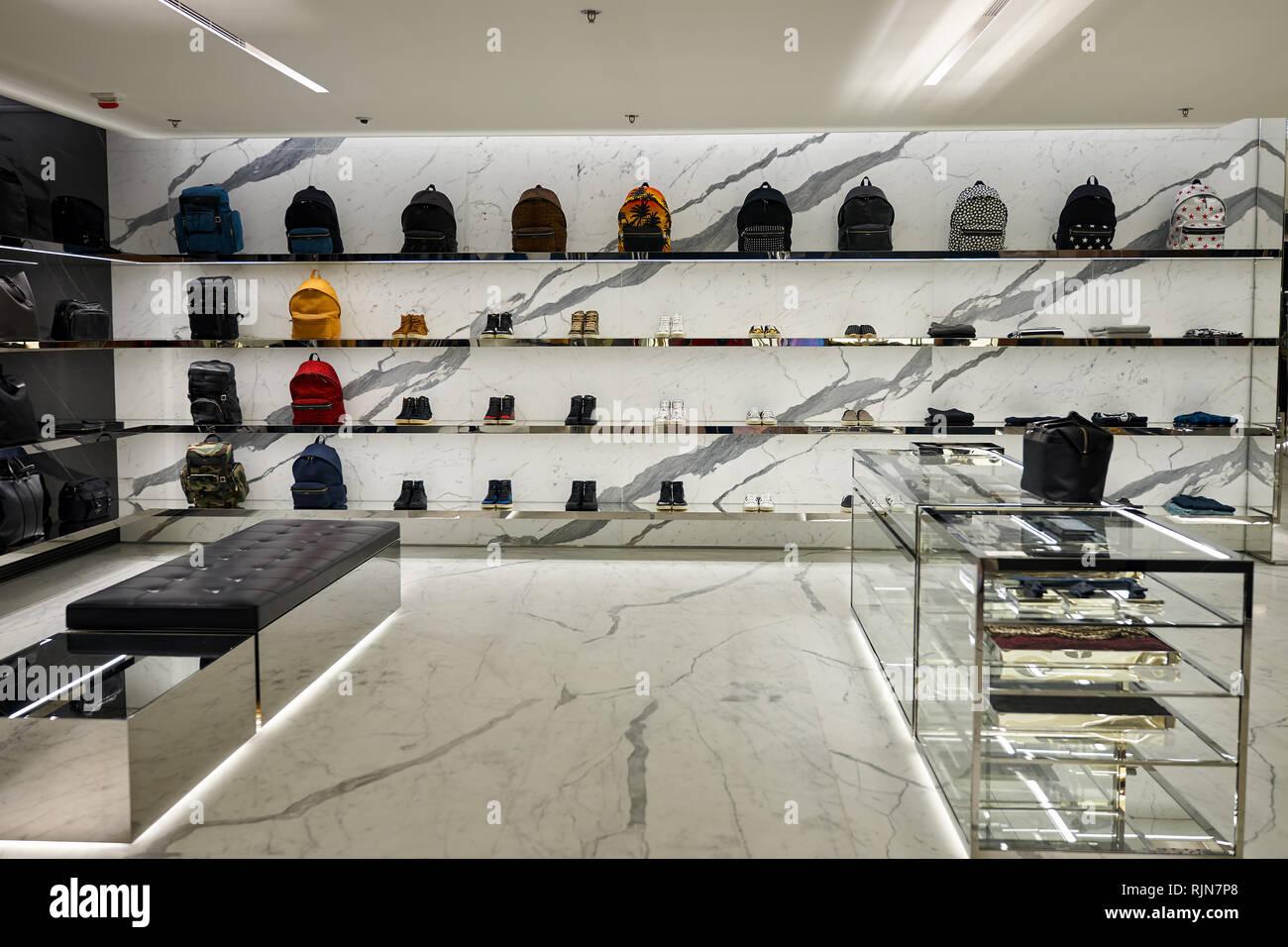 HONG KONG - JANUARY 26, 2016: YSL store
