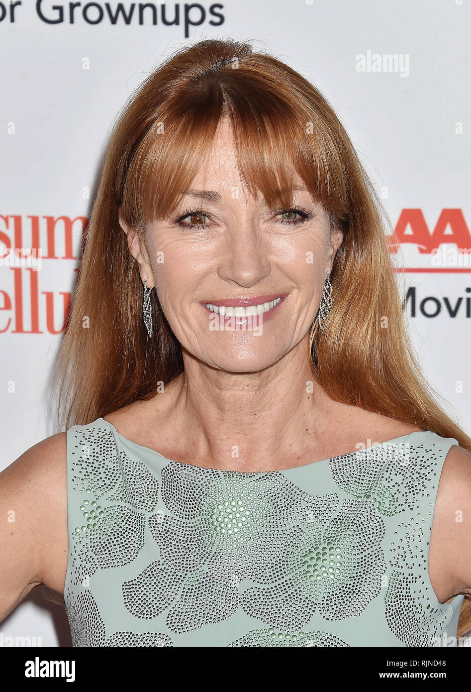 JANE SEYMOUR, English film actress at the 18th Annual AARP The Magazine's Movies For Grownups Awards at the Beverly Wilshire Four Seasons Hotel on February 04, 2019 in Beverly Hills, California. Photo: Jeffrey Mayer - Stock Image