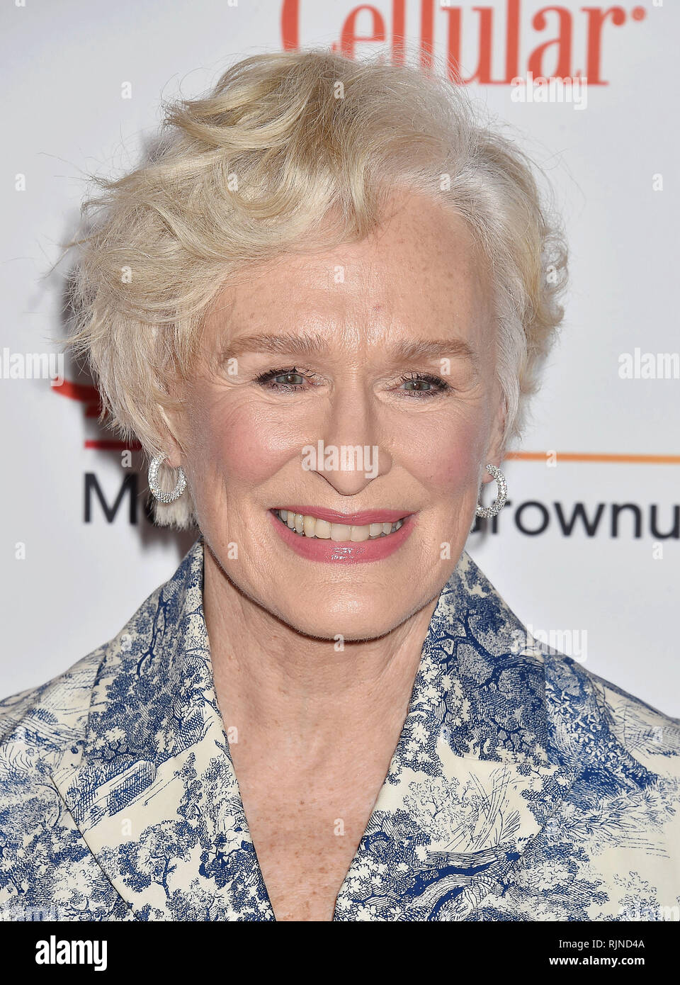 GLEN CLOSE American film actress at the 18th Annual AARP The Magazine's Movies For Grownups Awards at the Beverly Wilshire Four Seasons Hotel on February 04, 2019 in Beverly Hills, California. Photo: Jeffrey Mayer - Stock Image