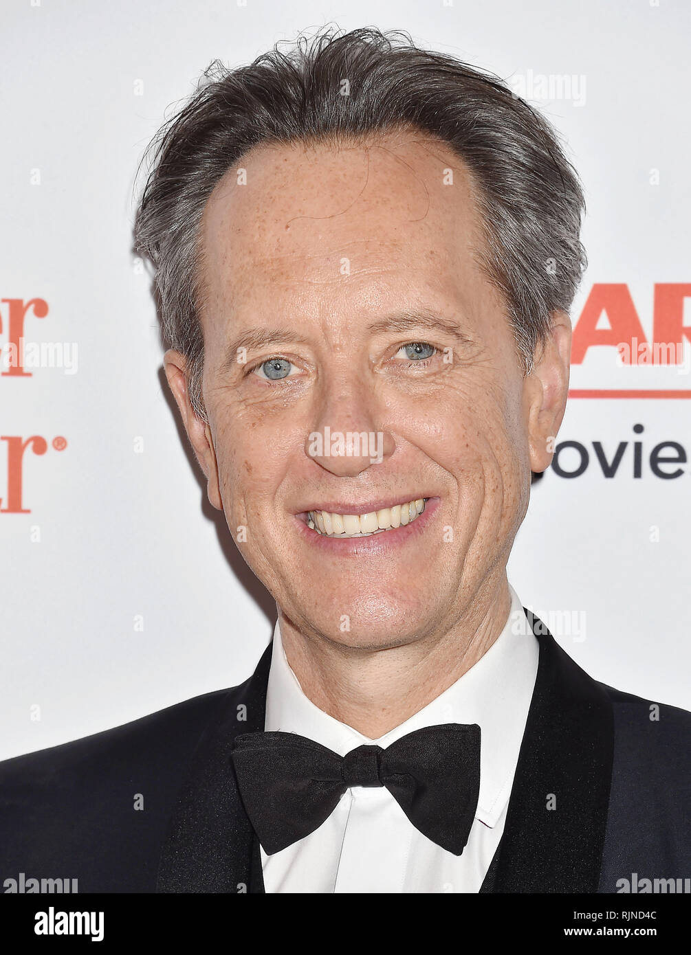 RICHARD E. GRANT at the 18th Annual AARP The Magazine's Movies For Grownups Awards at the Beverly Wilshire Four Seasons Hotel on February 04, 2019 in Beverly Hills, California.  Photo: Jeffrey Mayer - Stock Image