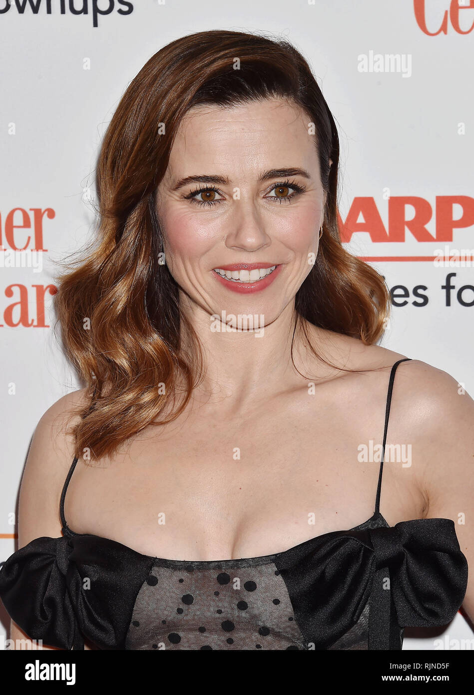 LINDA CARDELLINI American film actress at  the 18th Annual AARP The Magazine's Movies For Grownups Awards at the Beverly Wilshire Four Seasons Hotel on February 04, 2019 in Beverly Hills, California. Photo: Jeffrey Mayer - Stock Image