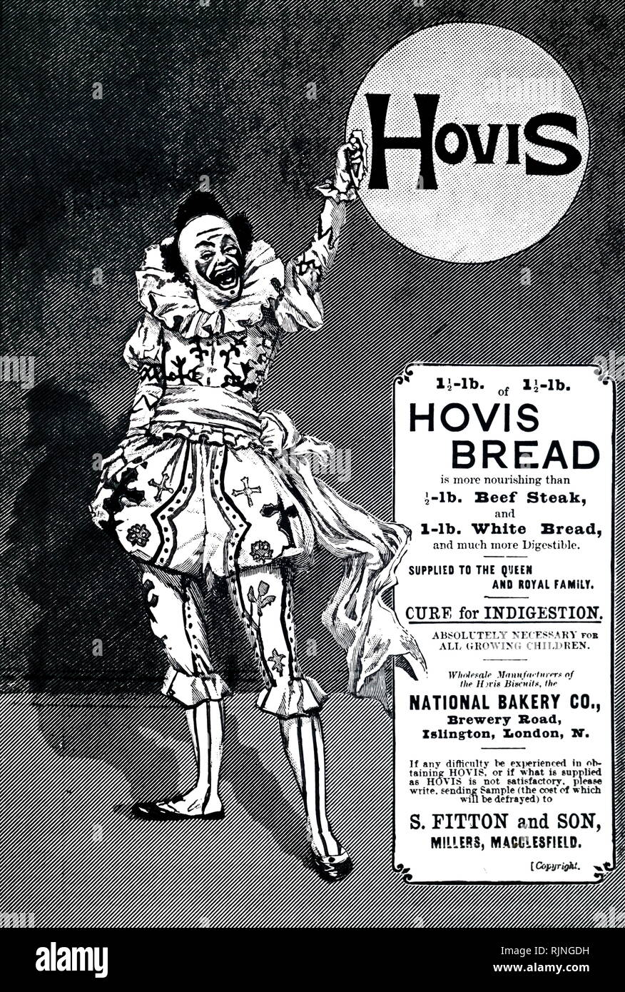 An advertisement for Hovis bread. Dated 19th century - Stock Image