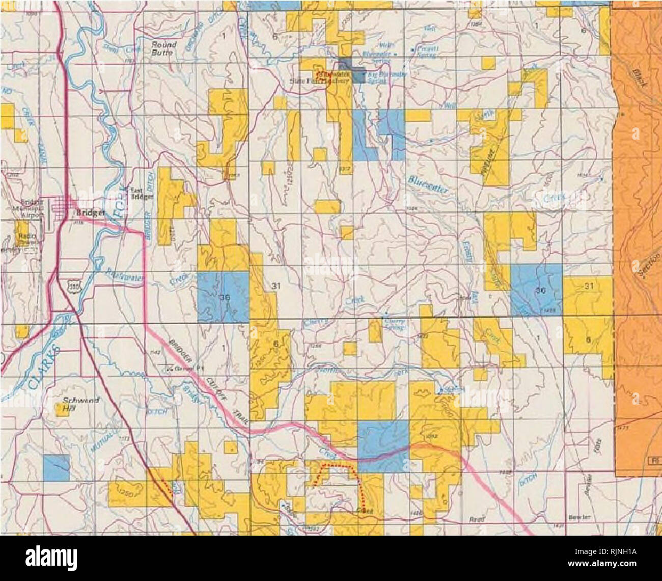 Bridger Montana Map.Surveys Of Significant Plant Resources In Southeast And South