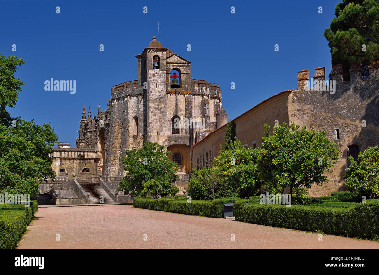 Convent of Christ and entrance way - Stock Image