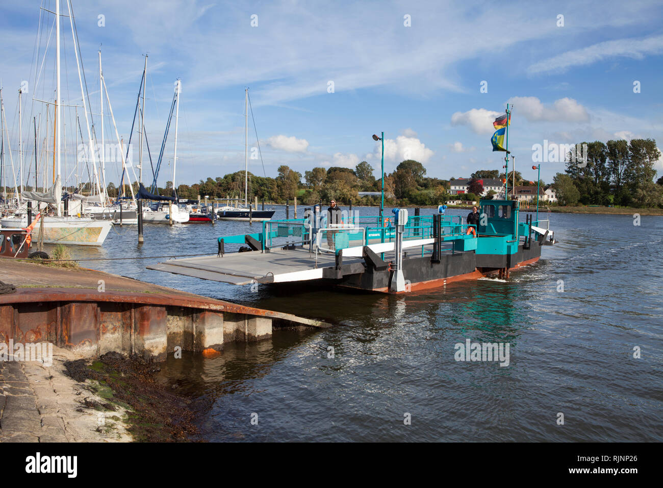Ferry over the Schlei, Arnis, Schleswig-Holstein, Germany, Europe - Stock Image