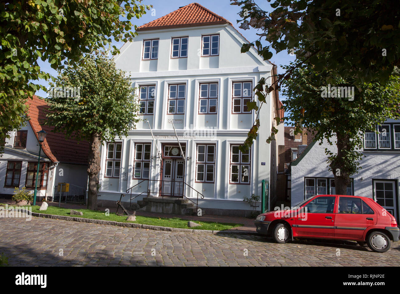 Townhall of Arnis, Schleswig-Holstein, Germany, Europe - Stock Image