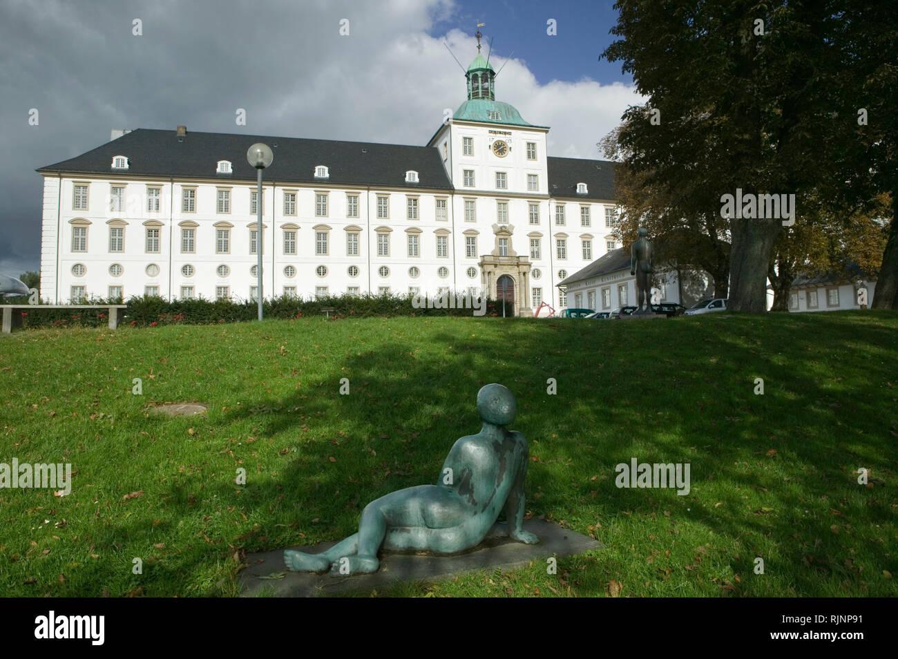 Gottorf Palace, Schleswig, Schleswig-Holstein, Northern Germany, Germany, Europe - Stock Image