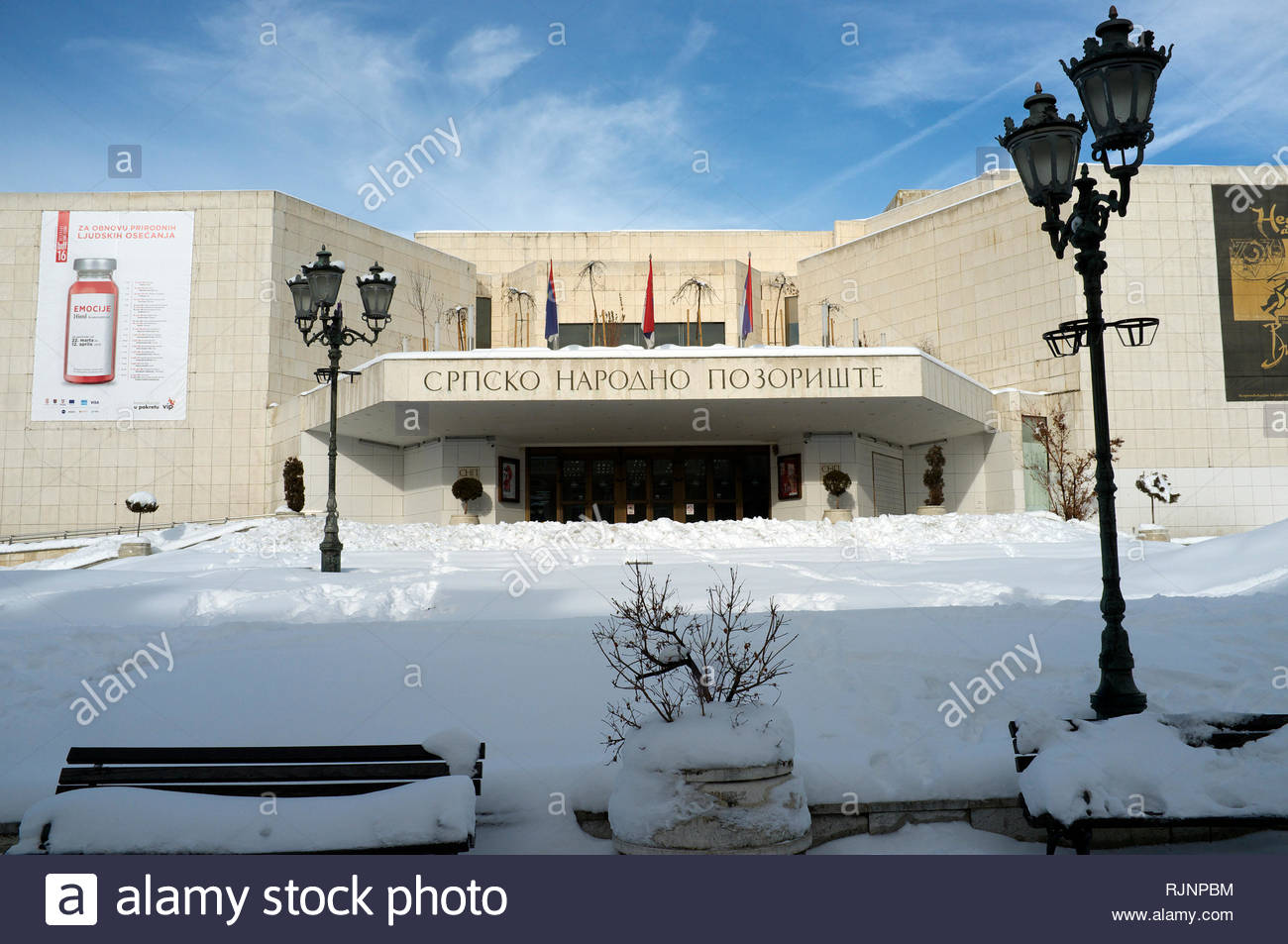The Serbian National Theatre, in the city of Novi Sad, Vojvodina, Serbia. Stock Photo