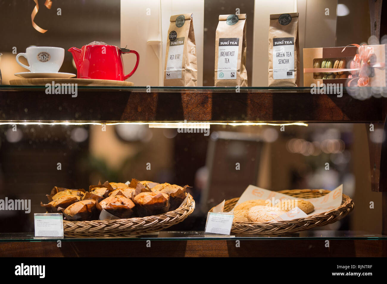 Glasgow, UK. 25 January 2019. Patisserie Valerie is a chain of cafés that operates in the United Kingdom. The chain specialises in hand-made cakes, an Stock Photo
