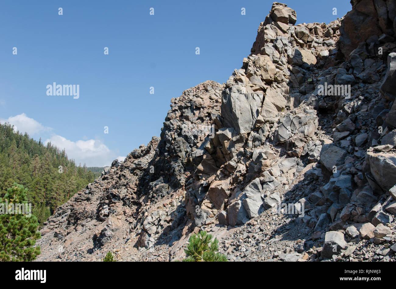Obsidian Dome in California - Stock Image