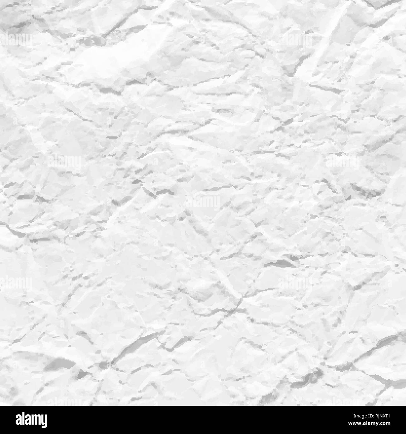 crumpled paper texture vector - Stock Image