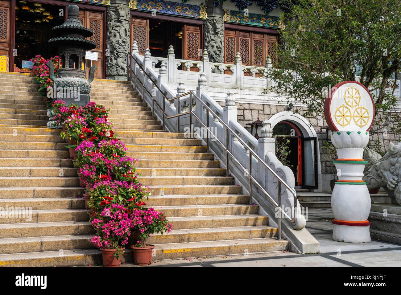 The Po Lin Monastery on Lantau Island, Hong Kong, China, Asia. - Stock Image
