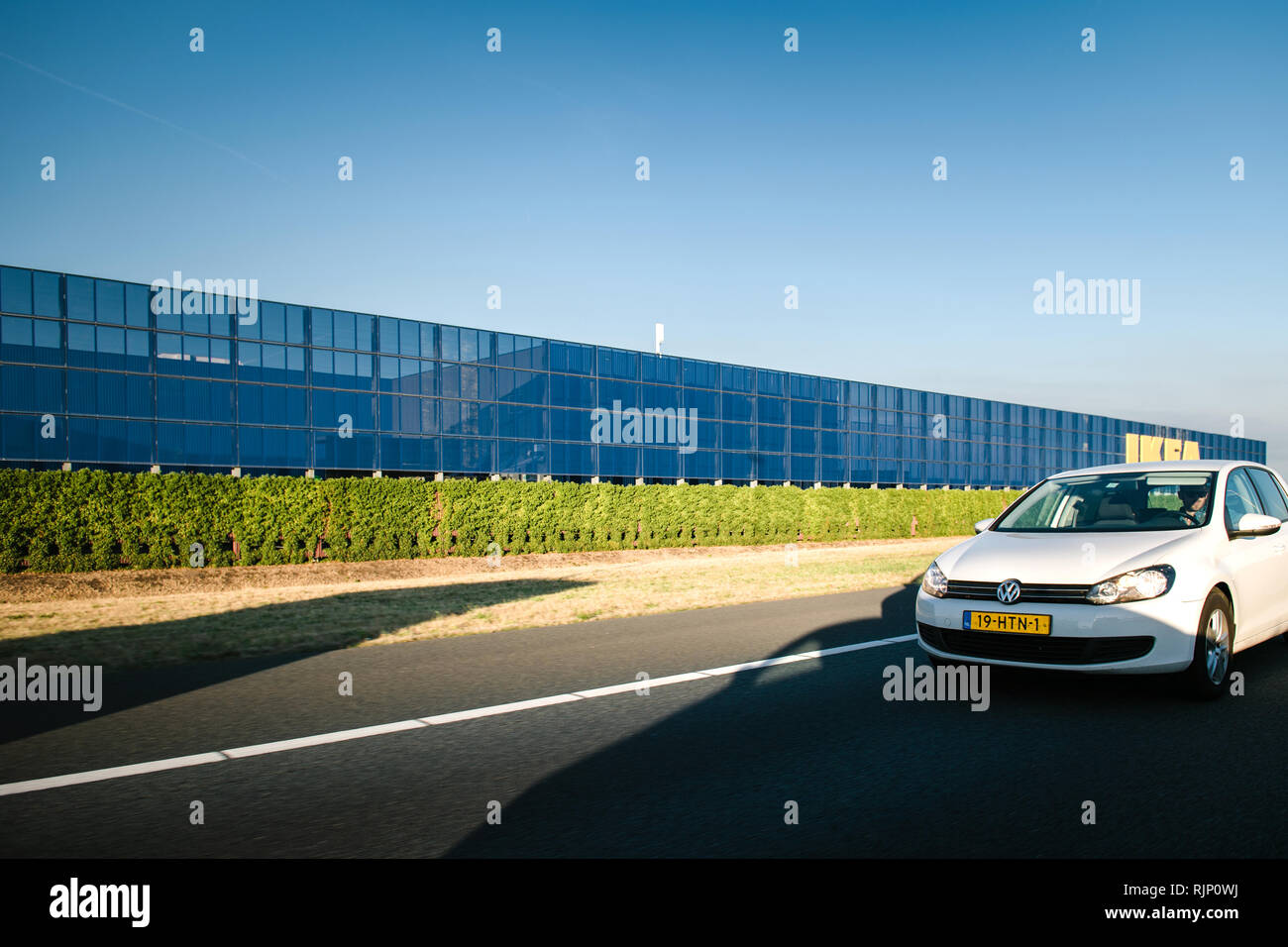 Motorway Sign Netherlands Blue Stock Photos Motorway Sign