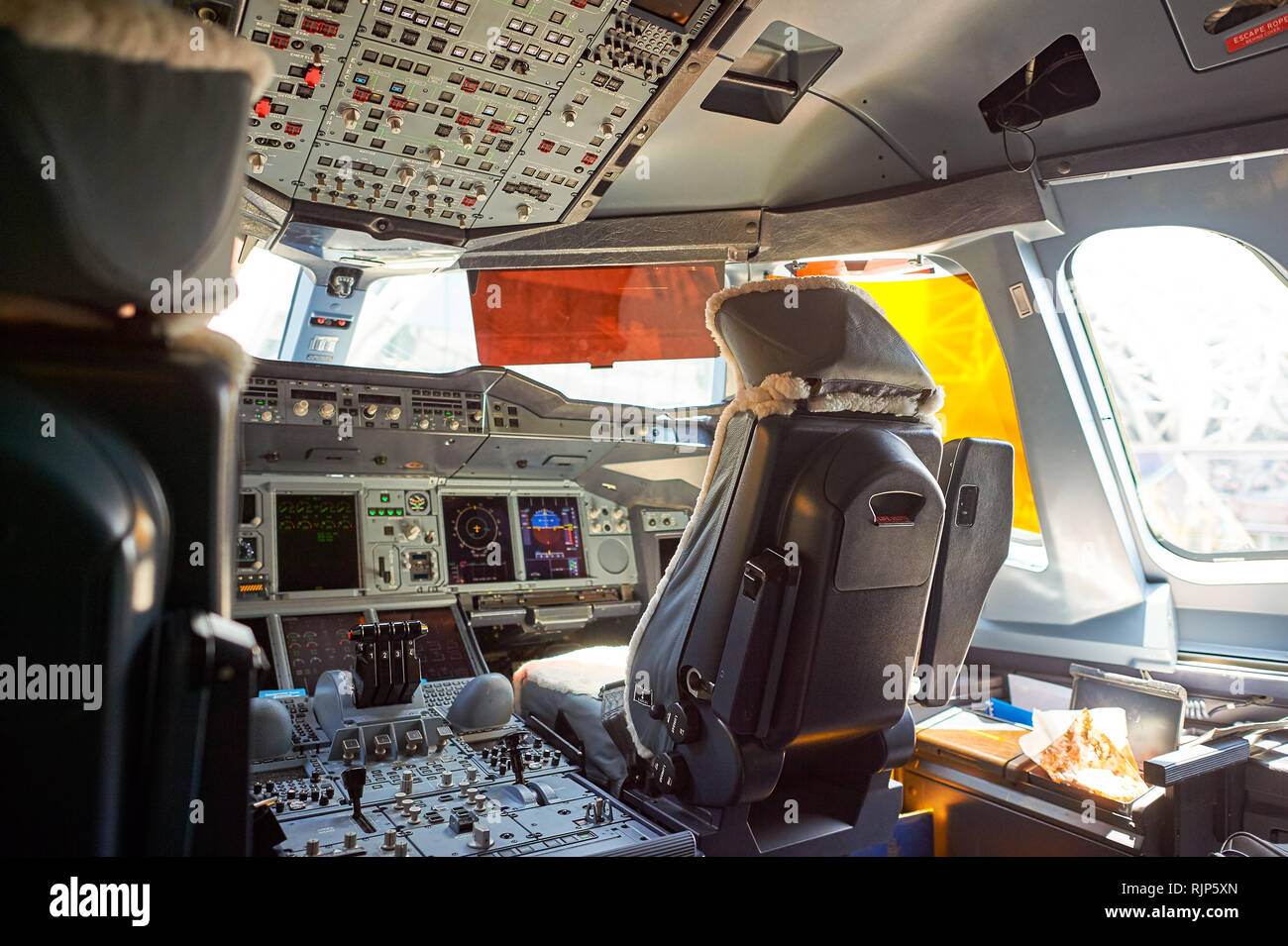 Bangkok Thailand March 31 2015 Interior Of Emirates Airbus A380