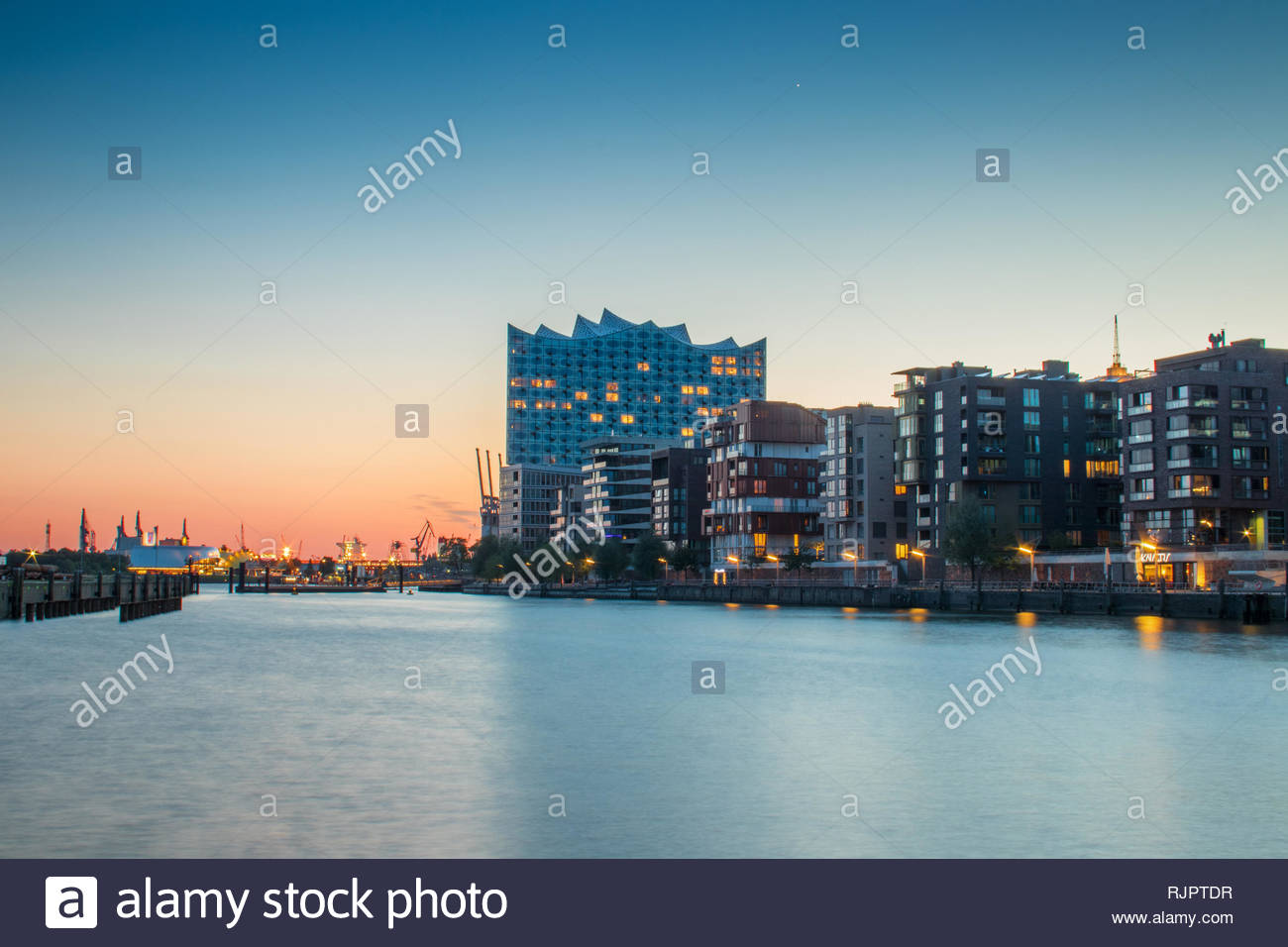 Harbour, Hafen City, Hamburg, Germany - Stock Image