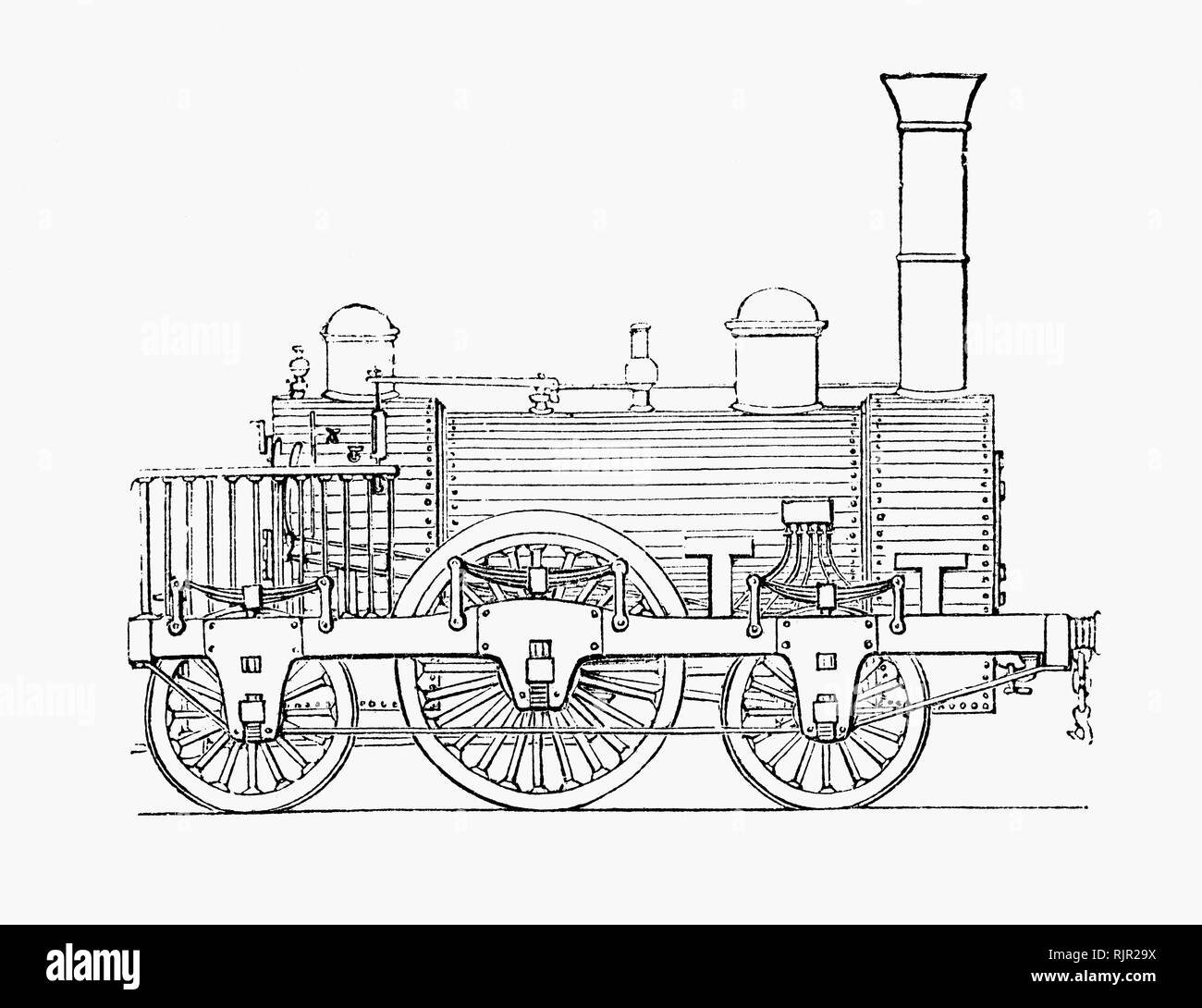 Drawing Of Steam Locomotive Stock Photos & Drawing Of Steam