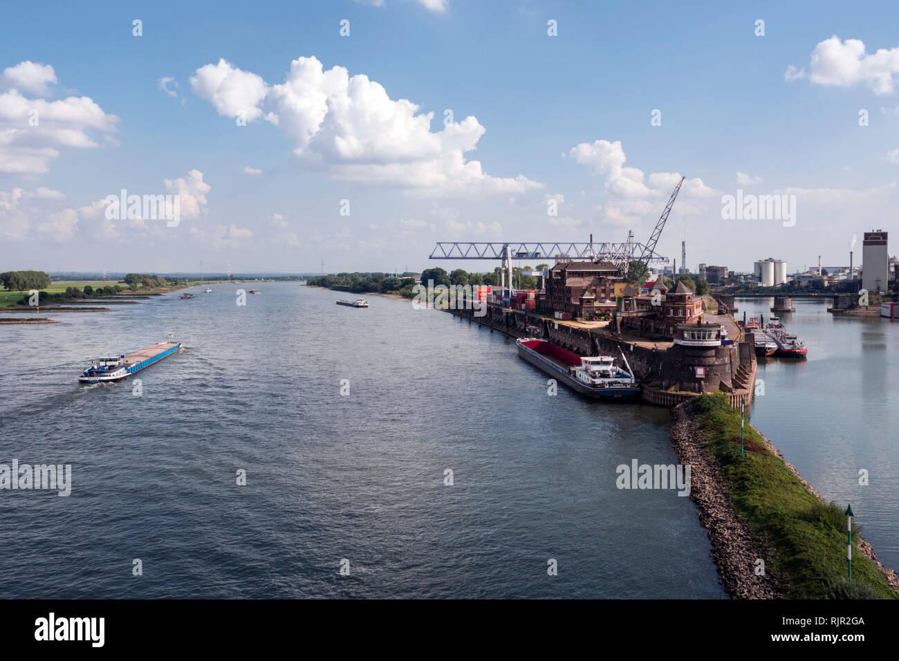 Krefelder Rheinhafen - Stock Image