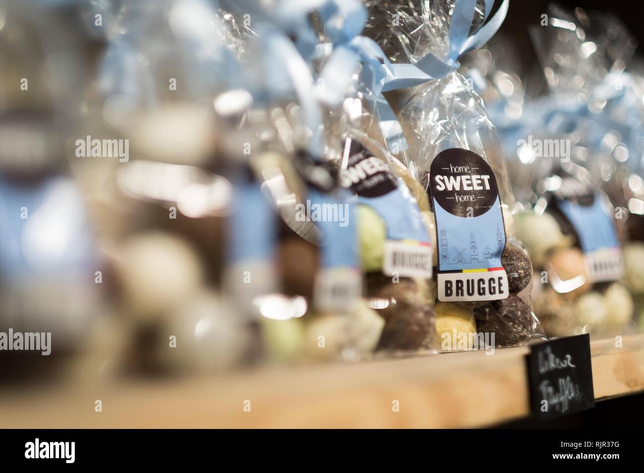 Bruges Brugge Belgium - Stock Image