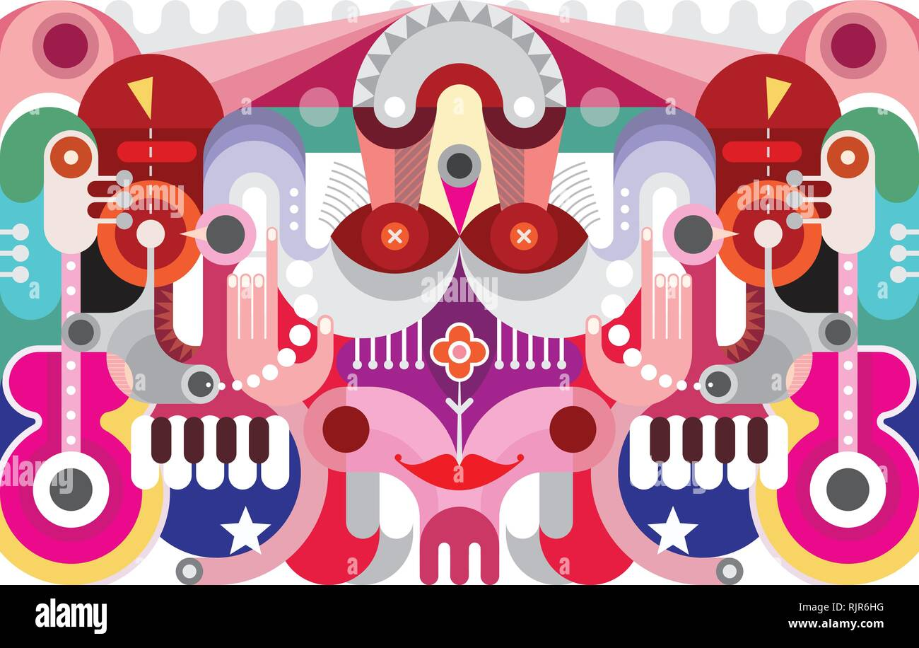 Abstract art graphic design  Colorful vector background