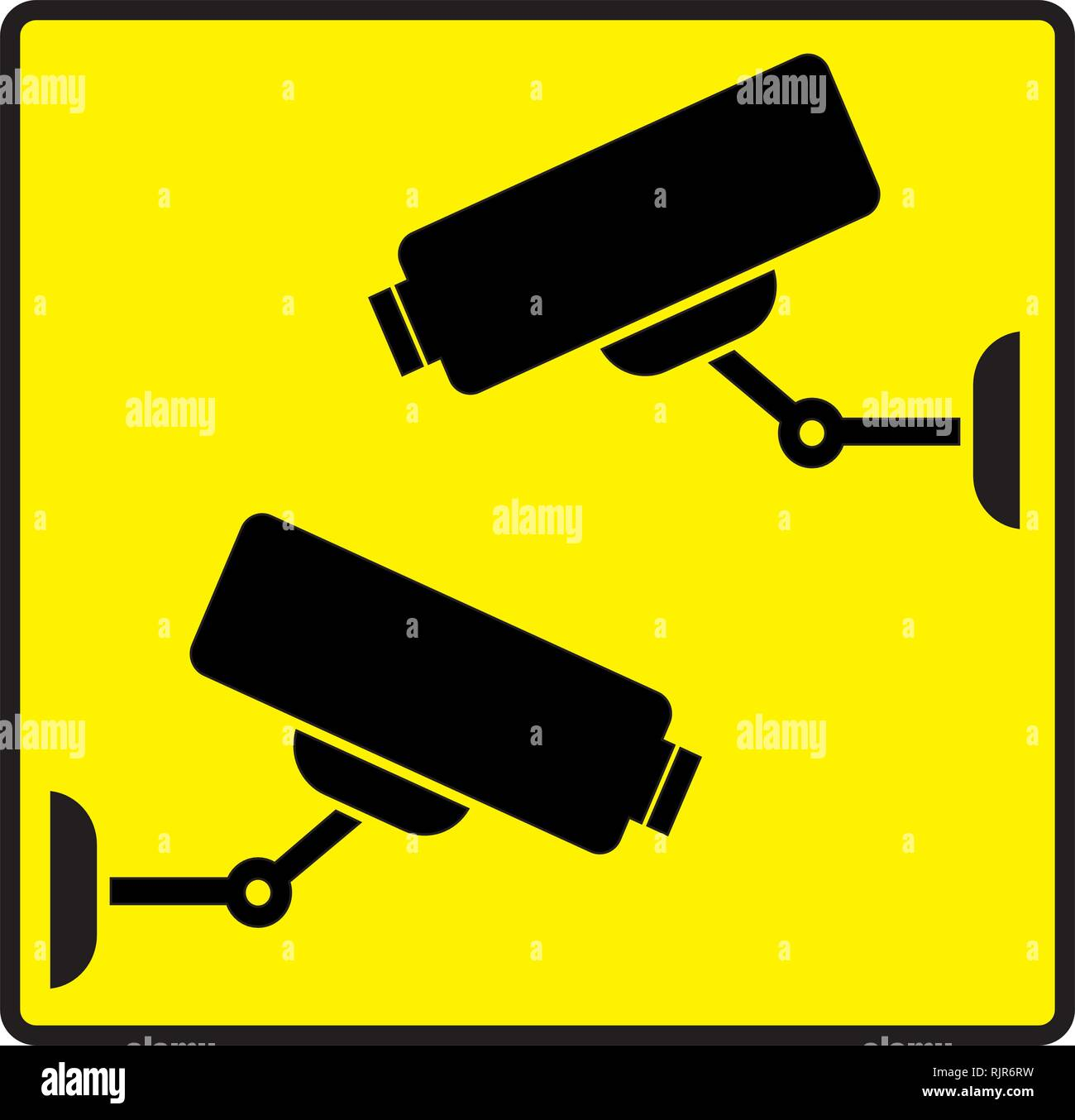 Security sign cctv cam Stock Vector