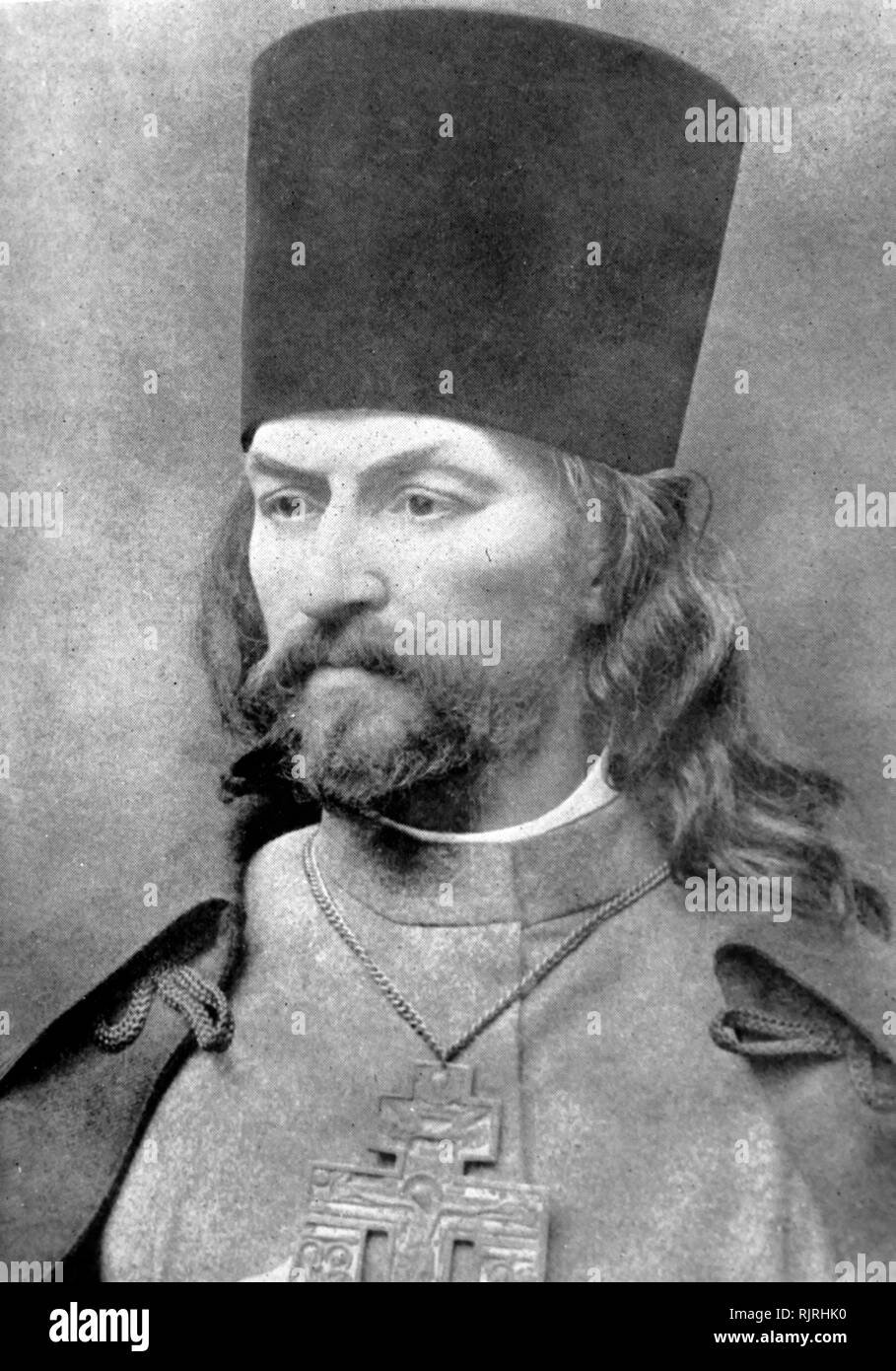 Father Georgy Apollonovich Gapon (1870 -- 1906); Russian Orthodox priest and working class leader before the Russian Revolution of 1905. After he was discovered to be a police informant, Gapon was murdered by members of the Socialist Revolutionary Party. - Stock Image