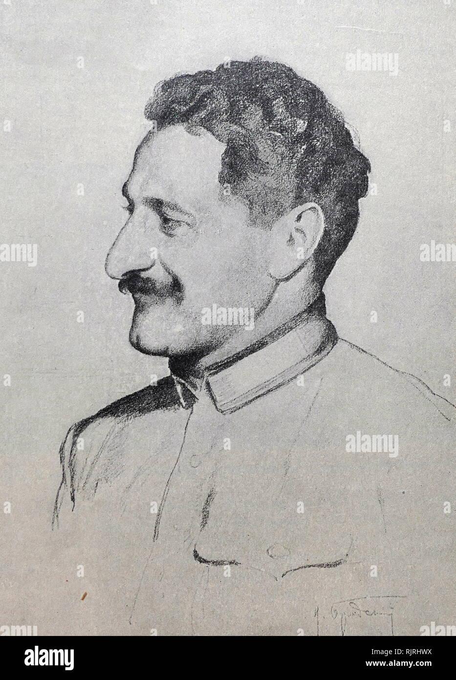 Grigori Ordzhonikidze (better known as Sergo Ordzhonikidze) (1886-1937), Georgian Bolshevik and Soviet political leader - Stock Image