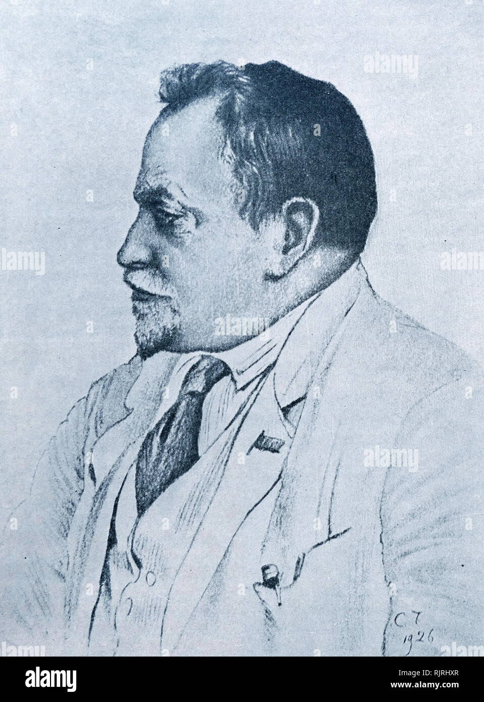 Nikolai Aleksandrovich Semashko (1874 - 1949); Russian statesman who became People's Commissar of Public Health in 1918, and served in that role until 1930. He was one of the organizers of the health system in the Soviet Union. - Stock Image