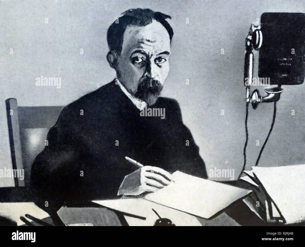 Felix Dzerzhinsky (1877 - 1926), nicknamed Iron Felix; Polish and Soviet Bolshevik revolutionary leader. From 1917 until his death in 1926, Dzerzhinsky led the first two Soviet state security organizations, the Cheka and the OGPU, establishing a secret police for the post-revolutionary Soviet government. - Stock Image
