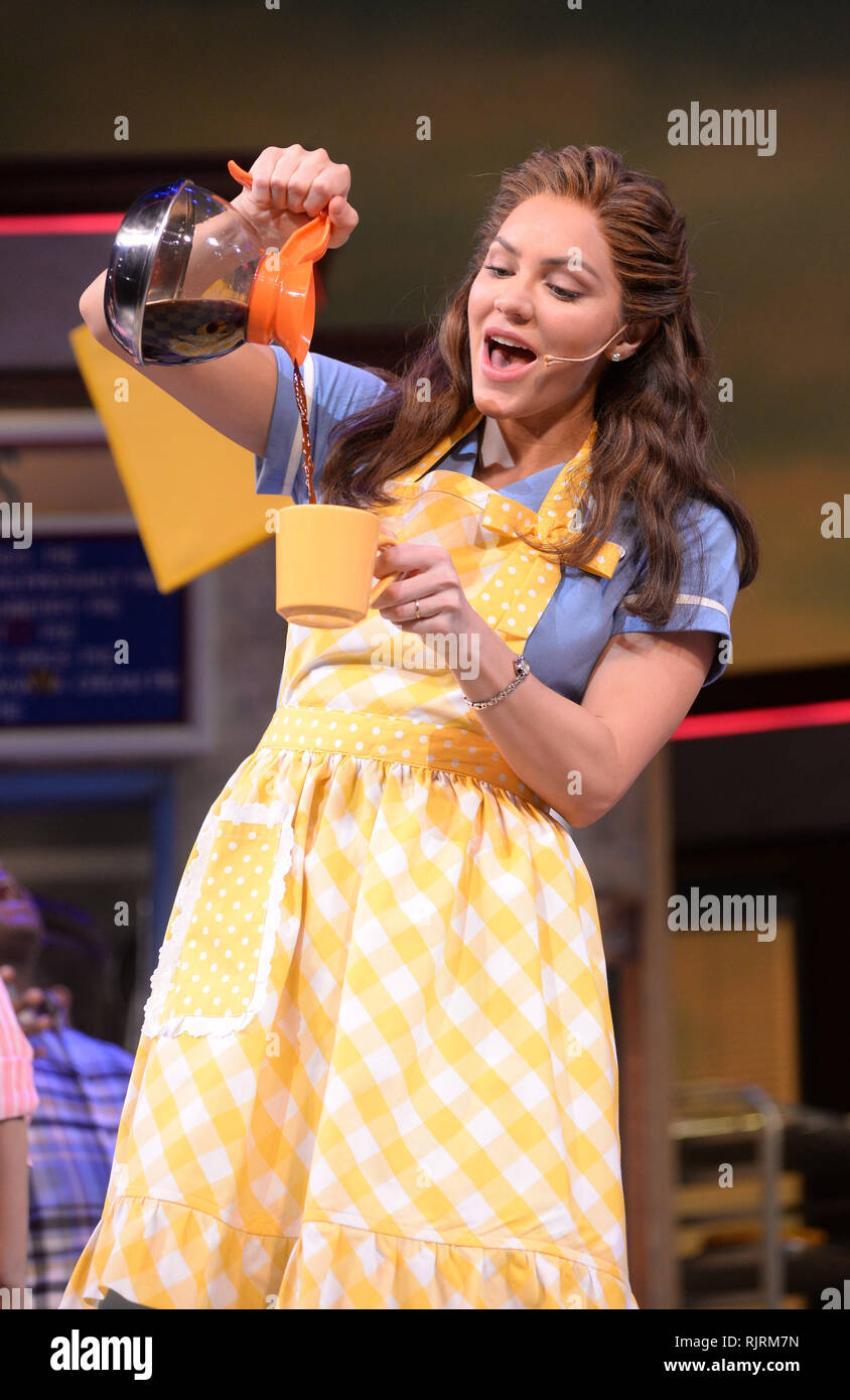 Photo Must Be Credited C Alpha Press 078237 07 02 2019 Katharine Mcphee As Jenna During A Photocall For The Musical Waitress At The Adelphi Theatre In London Stock Photo Alamy